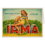Crate Label from Spain with Vintage Olive Brand