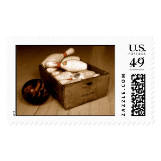 Crate of Old Bowling Pins Postage