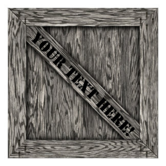 Crate - Poster - Driftwood