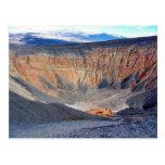 Cráter de Death Valley Ubehebe del desierto Postales