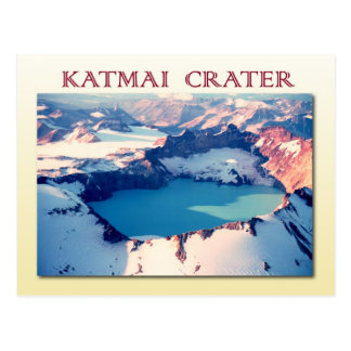 Cráter de Katmai, parque nacional de Katmai, Alask Postal