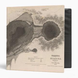 """Cráter de Kilauea, Hawaii Carpeta 1 1/2"""""""