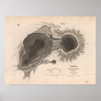 Cráter de Kilauea, Hawaii Poster