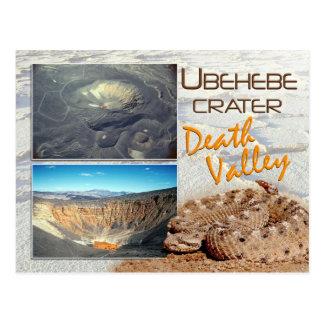 Cráter de Ubehebe, parque nacional de Death Valley Tarjetas Postales