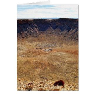 Cráter del meteorito de Barringer Tarjeta De Felicitación