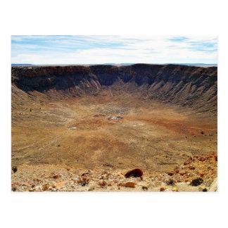 Cráter del meteorito de Barringer Tarjeta Postal