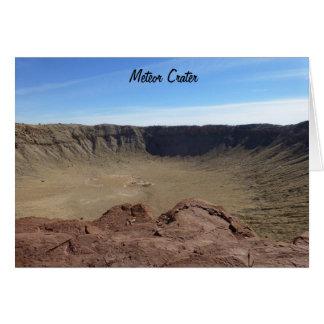 Cráter del meteorito tarjeta pequeña