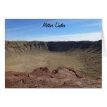 Cráter del meteorito tarjetón