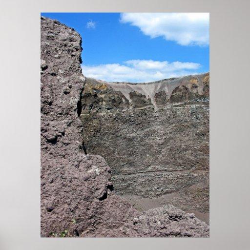 Cráter del monte Vesubio (3) Posters