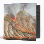Cráter del monte Vesubio de un dibujo original