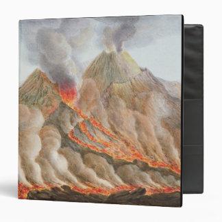 """Cráter del monte Vesubio de un dibujo original Carpeta 1 1/2"""""""