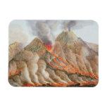 Cráter del monte Vesubio de un dibujo original Iman De Vinilo