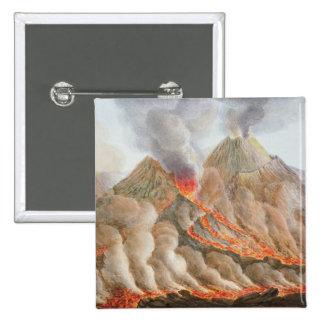 Cráter del monte Vesubio de un dibujo original Pin