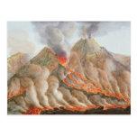 Cráter del monte Vesubio de un dibujo original Tarjeta Postal