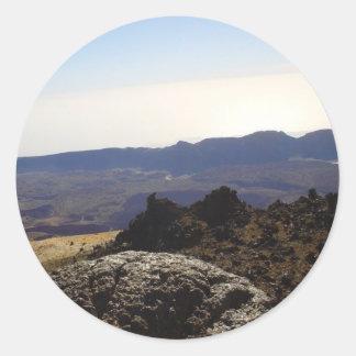 Cráter interior pegatina redonda