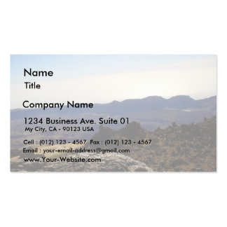Cráter interior plantilla de tarjeta personal