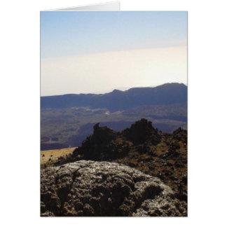 Cráter interior tarjeta de felicitación