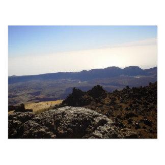 Cráter interior tarjeta postal