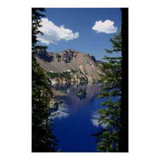 Crater Lake and the Phantom Ship Poster