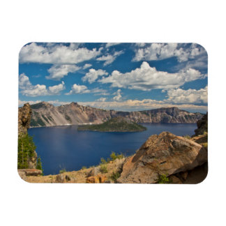 Crater Lake and Wizard Island, Crater Lake Rectangular Photo Magnet