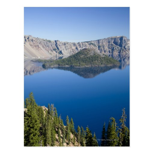 Crater Lake and Wizard Island Postcard