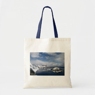 Crater Lake and Wizard Island Tote Canvas Bags