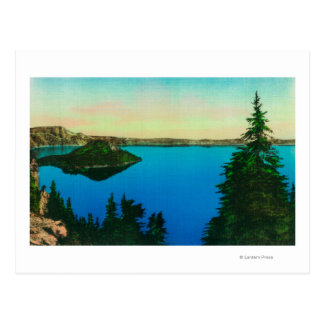 Crater Lake and Wizard Island View Postcard
