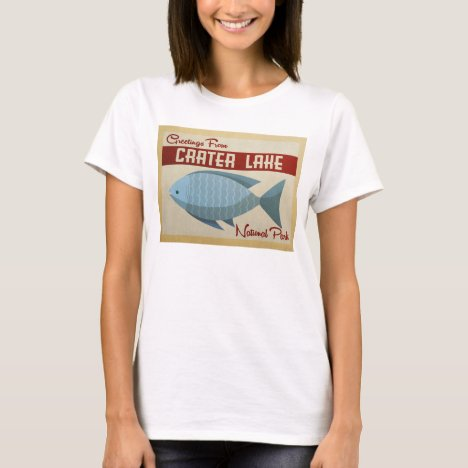 Crater Lake Blue Fish Vintage Travel T-Shirt