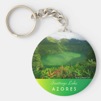 Crater lake in Azores Keychain