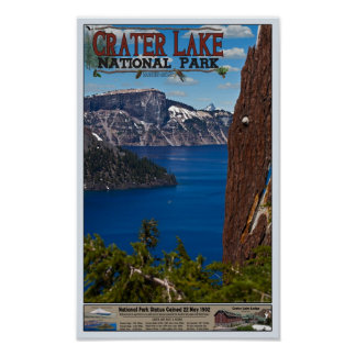 Crater Lake - Informational Poster