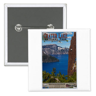 Crater Lake - Informational Poster Button