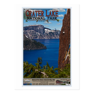 Crater Lake - Informational Poster Postcard