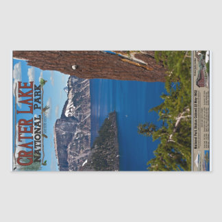Crater Lake - Informational Poster Rectangular Sticker