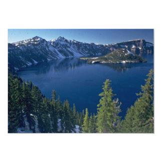 "Crater Lake 5"" X 7"" Invitation Card"