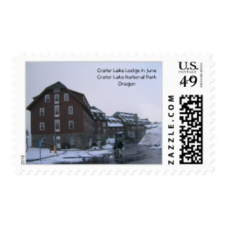 Crater Lake Lodge in June Postage Stamps