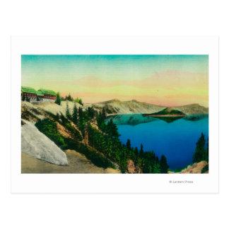 Crater Lake Lodge overlooking Lake Postcard