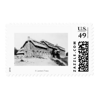 Crater Lake Lodge PhotographCrater Lake, OR 3 Postage Stamp