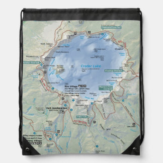 Crater Lake map backpack