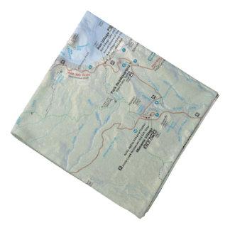 Crater Lake map bandana