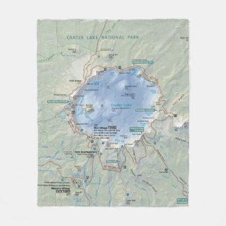 Crater Lake map fleece blanket