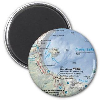 Crater Lake map magnet