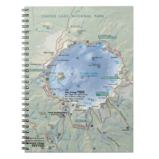 Crater Lake map notebook