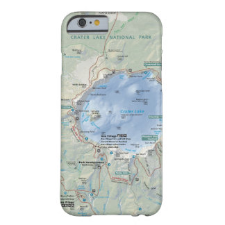 Crater Lake map phone case