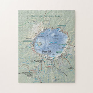 Crater Lake map puzzle