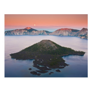 Crater Lake Moonrise Postcard