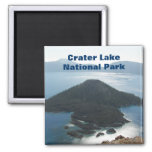 Crater Lake Morning 2 Inch Square Magnet
