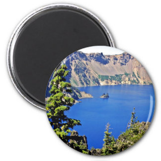 Crater Lake National Park 2 Inch Round Magnet