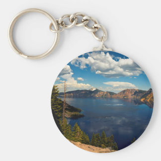 Crater Lake National Park Basic Button Keychain