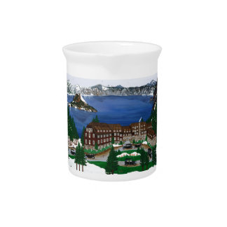 Crater Lake National Park Drink Pitcher