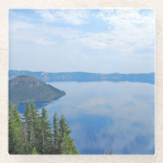 Crater Lake National Park Glass Coaster